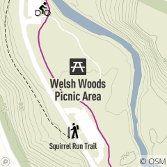 Map of Welsh Woods Picnic Area