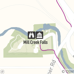Map of Mill Creek Falls Overlook