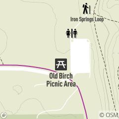 Map of Old Birch Picnic Area