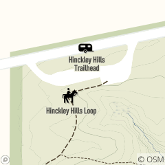 Map of Hinckley Hills Trailhead