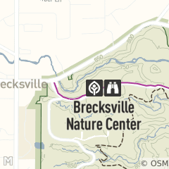 Map of Brecksville Nature Center