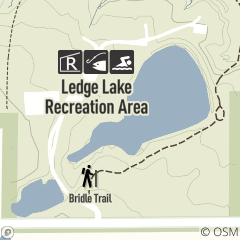 Map of Ledge Lake