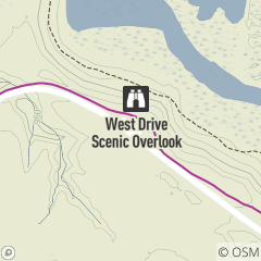 Map of West Drive Scenic Overlook