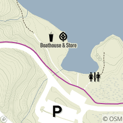 Map of Hinckley Lake Boathouse & Store