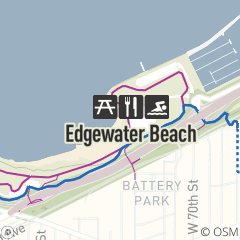 Map of Edgewater Beach