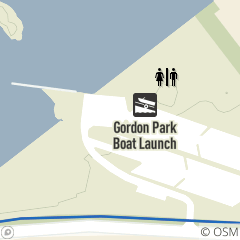 Map of Gordon Park Boat Launch