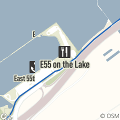 Map of e55 on the lake
