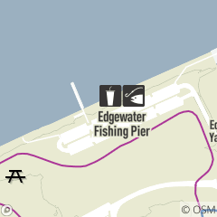 Map of The Pier Grille & Bait Shop at Edgewater Beach