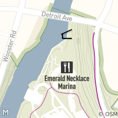 Map of Emerald Necklace Marina