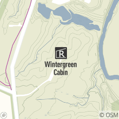 Map of Wintergreen Cabin