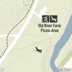 Map of Sledding Area at Old River Farm Picnic Area