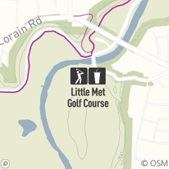 Map of Little Met Golf Course