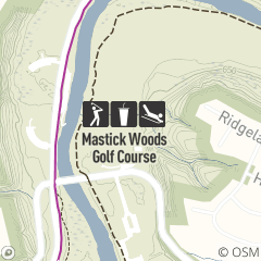 Map of Mastick Woods Golf Course