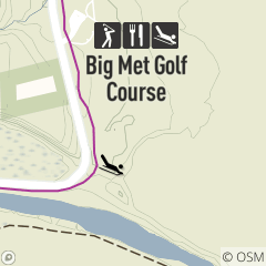 Map of Sledding Area at Big Met Golf Course