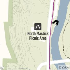 Map of North Mastick Picnic Area