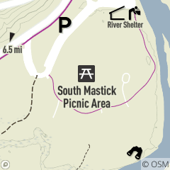 Map of South Mastick Picnic Area