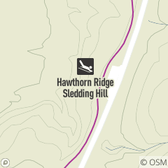 Map of Hawthorn Ridge Sledding Hill