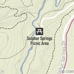 Map of Sulphur Springs Picnic Area