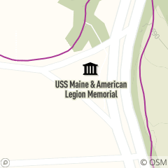 Map of USS Maine & American Legion Memorial