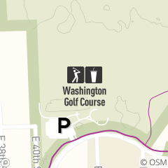 Map of Washington Golf Course
