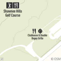 Map of The Double Bogey Grille at Shawnee Hills