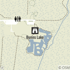 Map of Bunns Lake