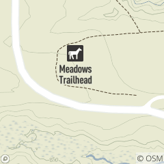Map of Meadows Trailhead