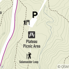 Map of Plateau Picnic Area