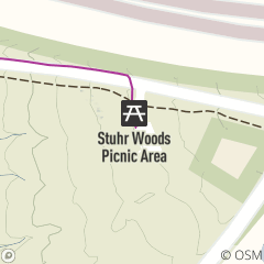 Map of Stuhr Woods Picnic Area