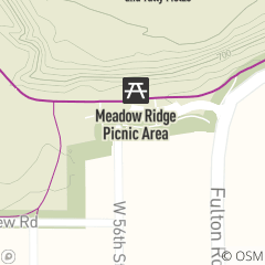 Map of Meadow Ridge Picnic Area