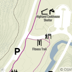 Map of Euclid Creek Physical Fitness Trail