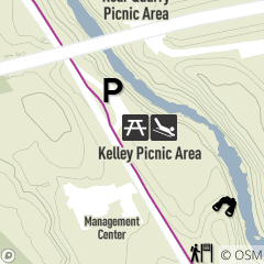 Map of Sledding Area at Kelley Picnic Area