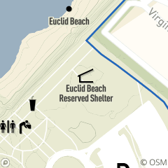 Map of Euclid Beach Reservable Picnic Shelter