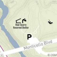 Map of Rear Quarry Reservable Picnic Area