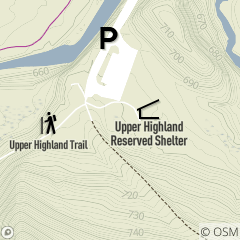 Map of Upper Highland Reservable Picnic Area